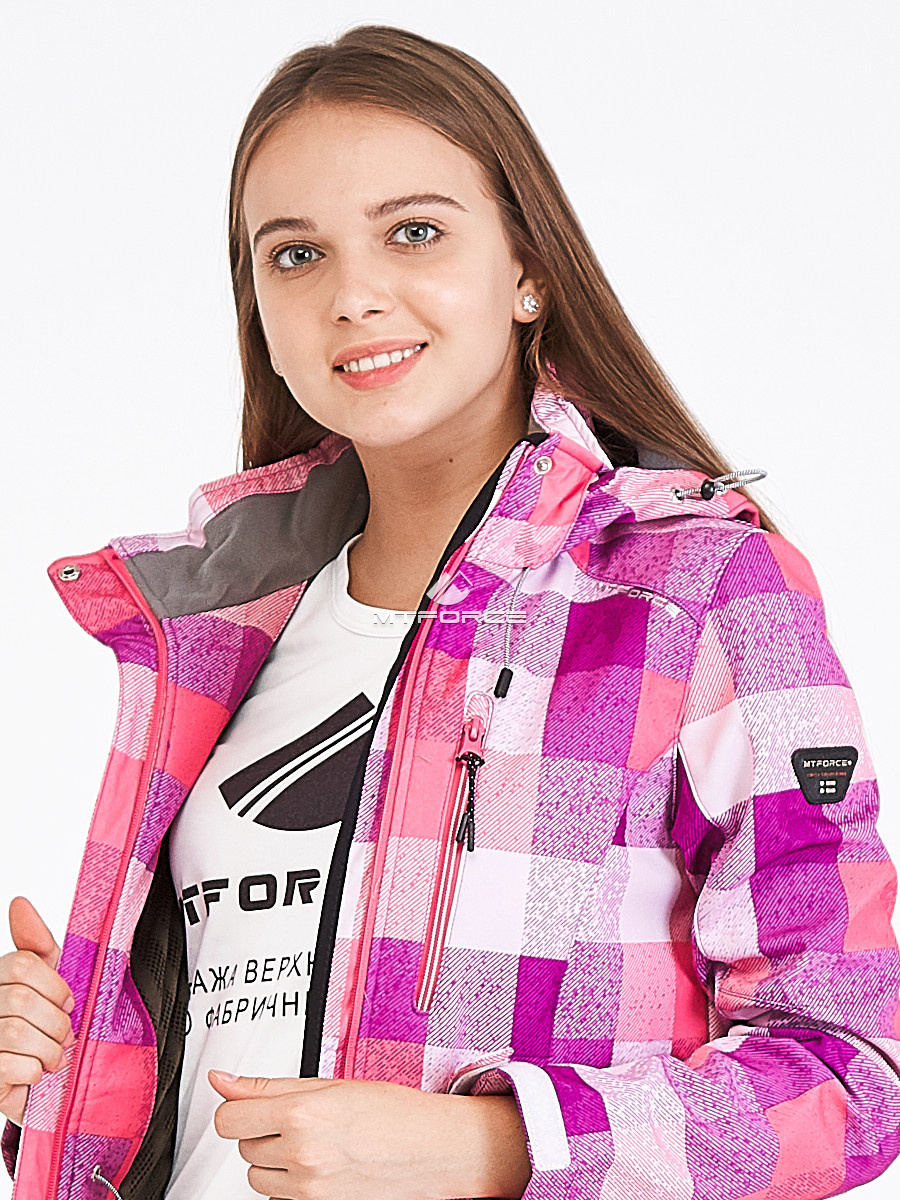 Купить оптом Костюм женский softshell розового цвета 01923R