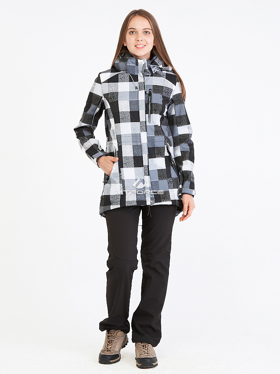 Купить оптом Костюм женский softshell серого цвета 01923Sr в Самаре
