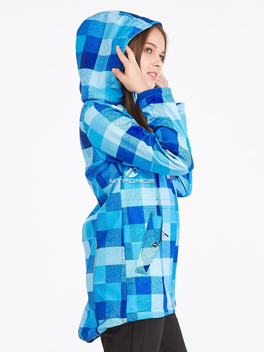 Купить оптом Костюм женский softshell синего цвета 01923S