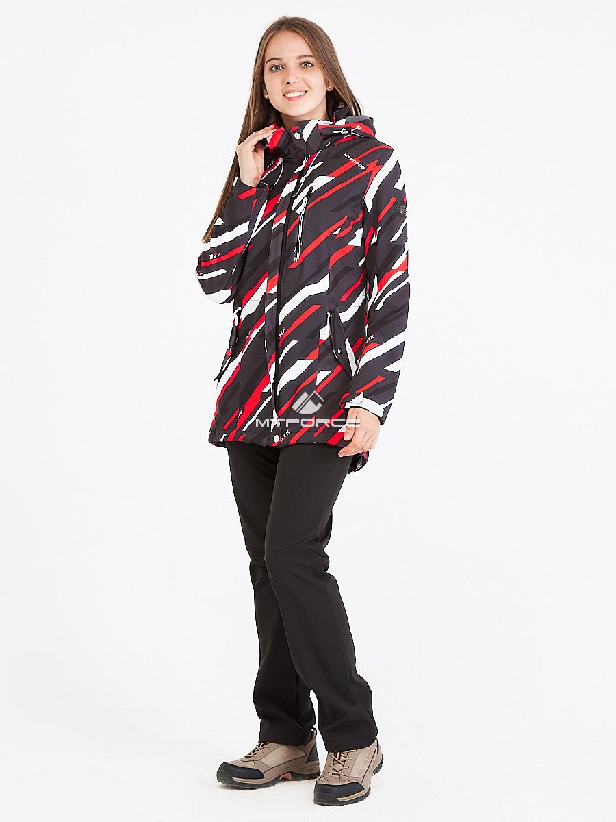 Купить оптом Костюм женский softshell красного цвета 01923-1Kr