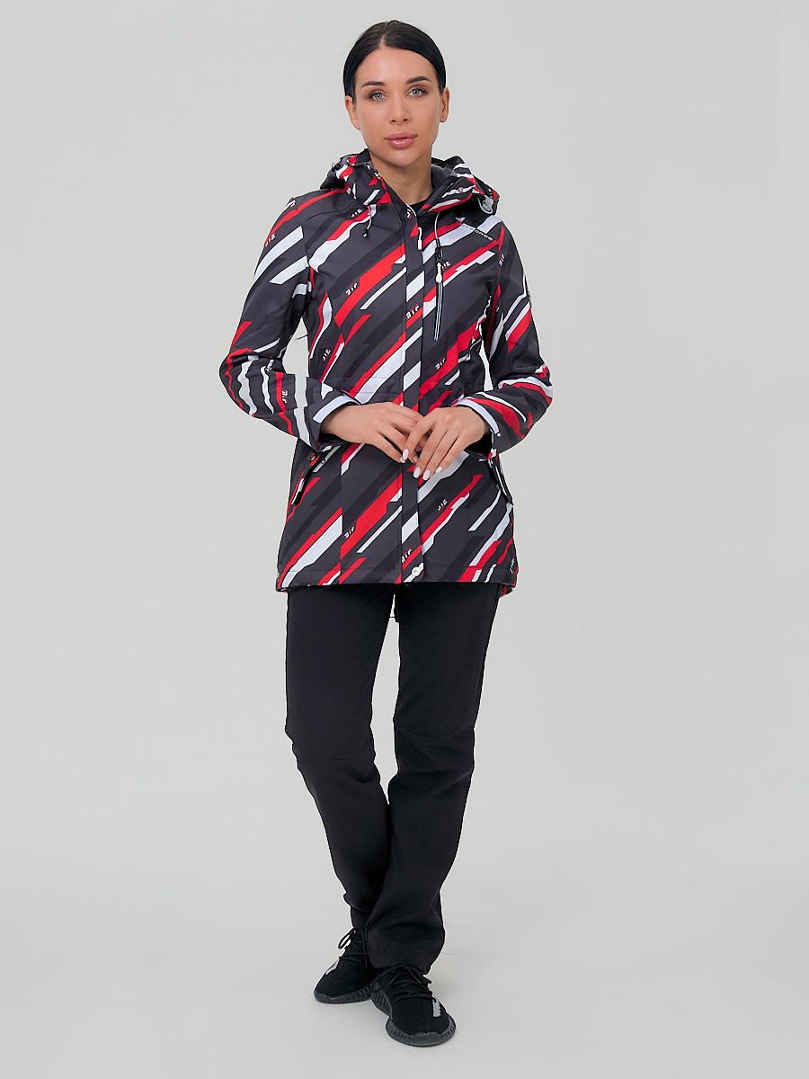 Купить оптом Костюм женский softshell красного цвета 01923-1Kr в Нижнем Новгороде
