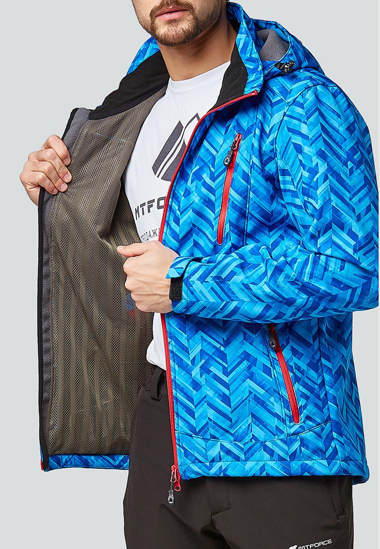 Купить оптом Костюм мужской softshell синего цвета 01941S в Казани