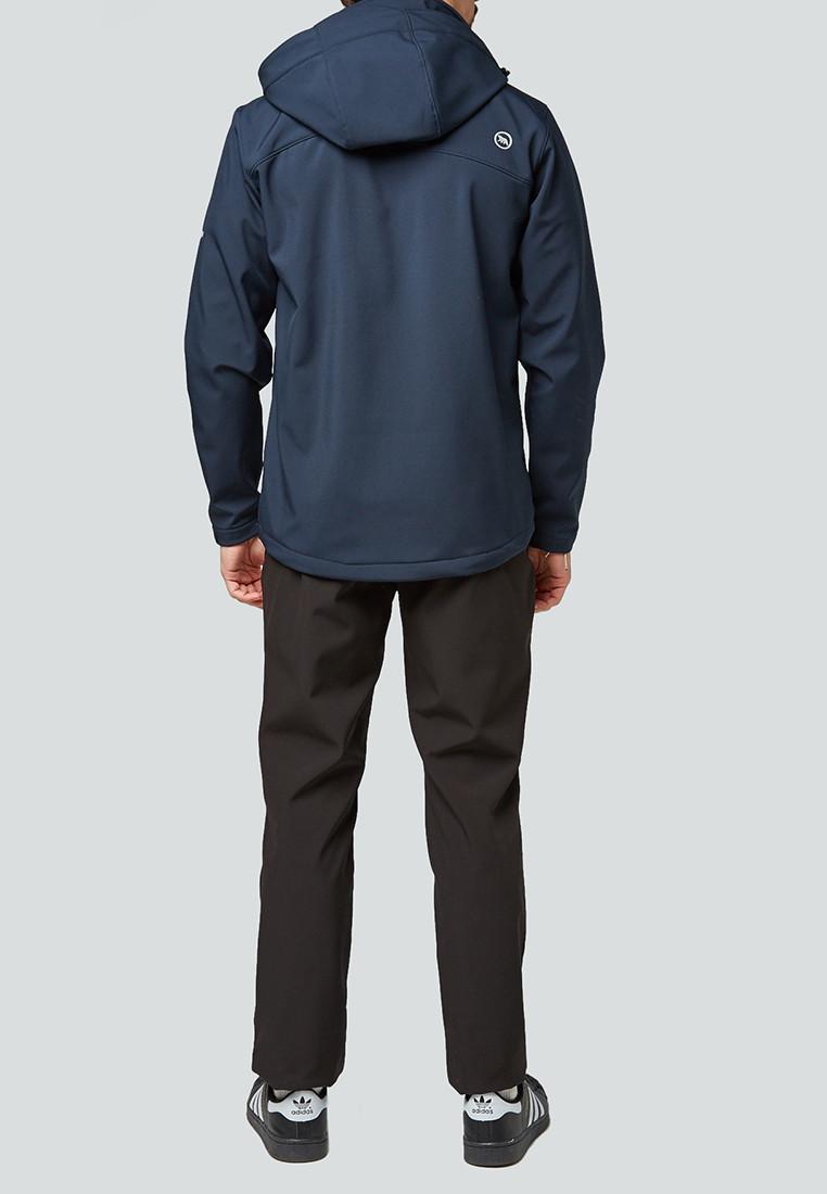 Купить оптом Костюм мужской softshell темно-синего цвета 01942TS