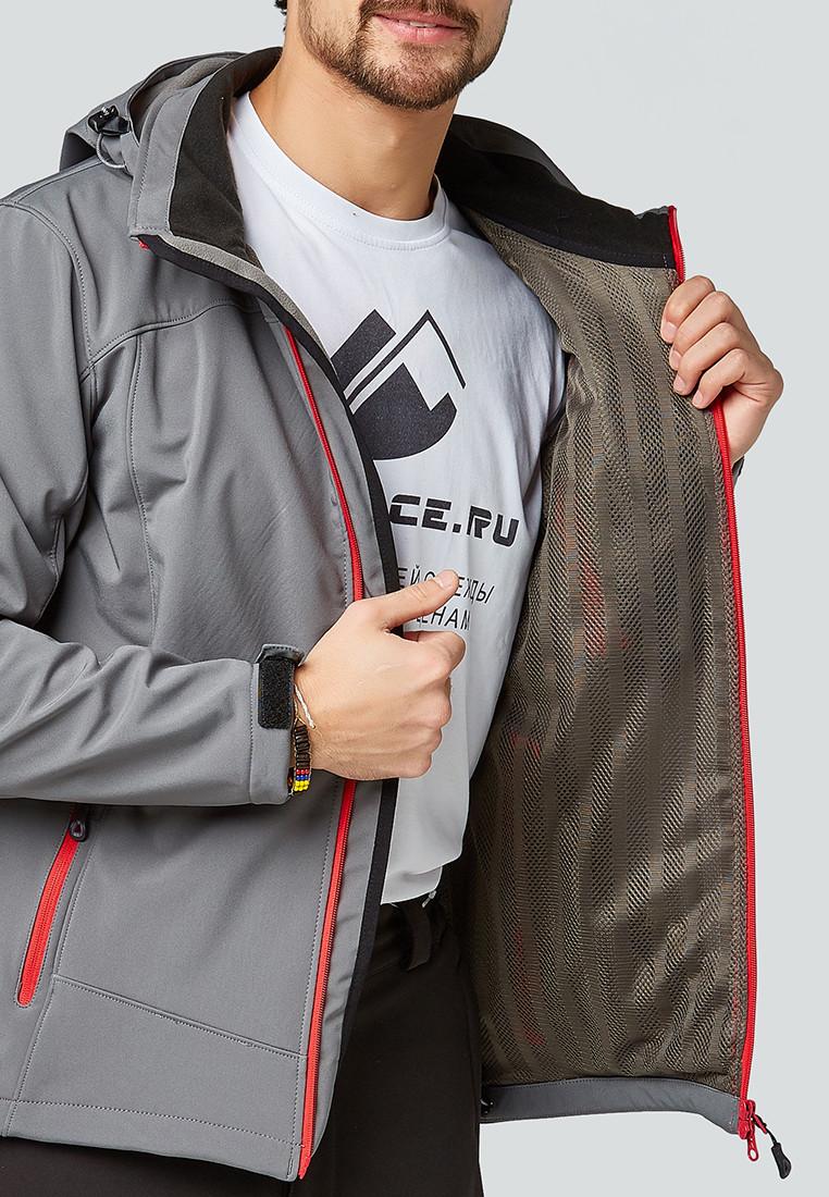 Купить оптом Костюм мужской softshell серого цвета 01942Sr
