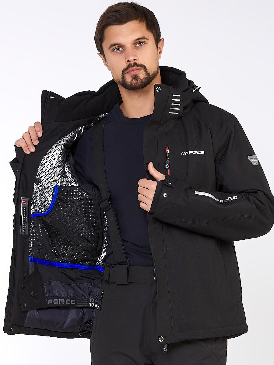Купить оптом Мужской зимний горнолыжный костюм черного цвета 01947Ch в  Красноярске