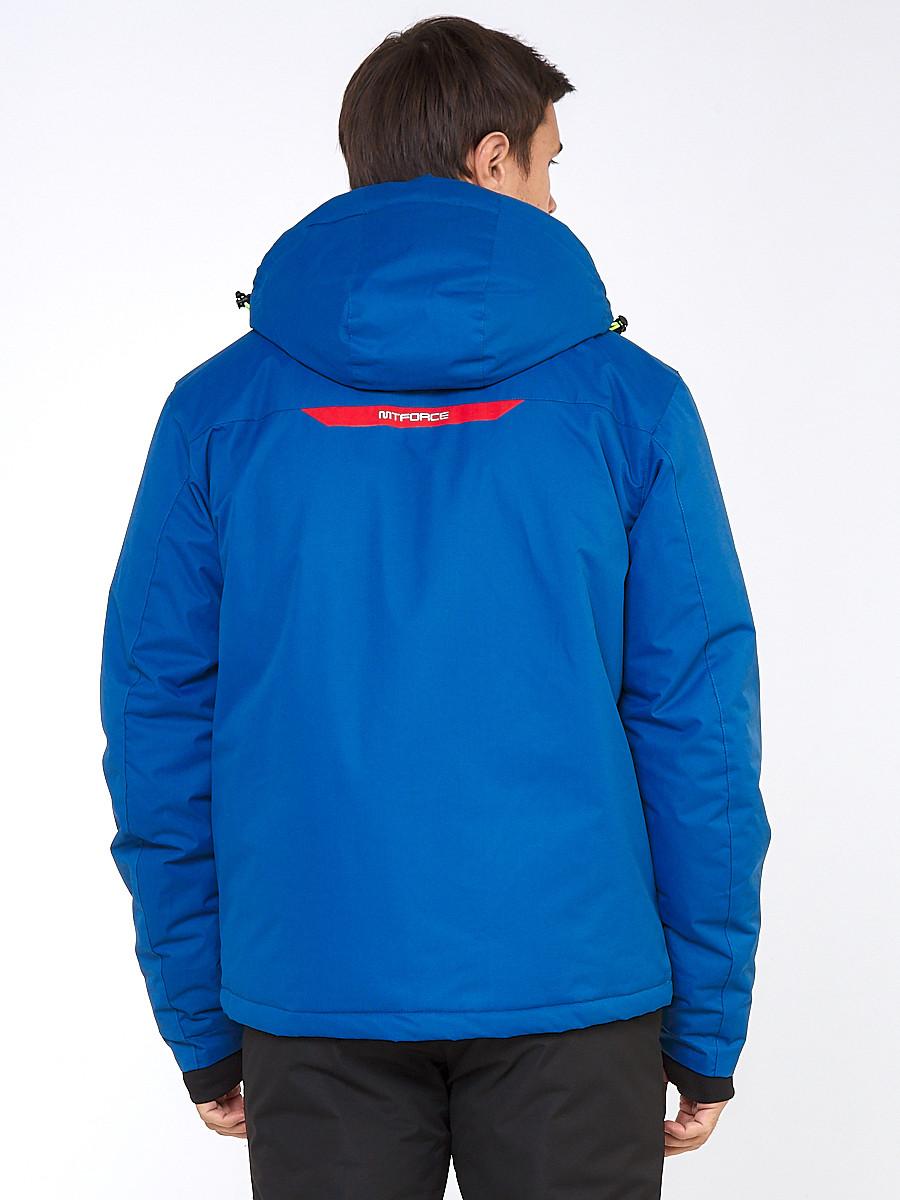 Купить оптом Мужской зимний горнолыжный костюм синего цвета 01966S в Перми