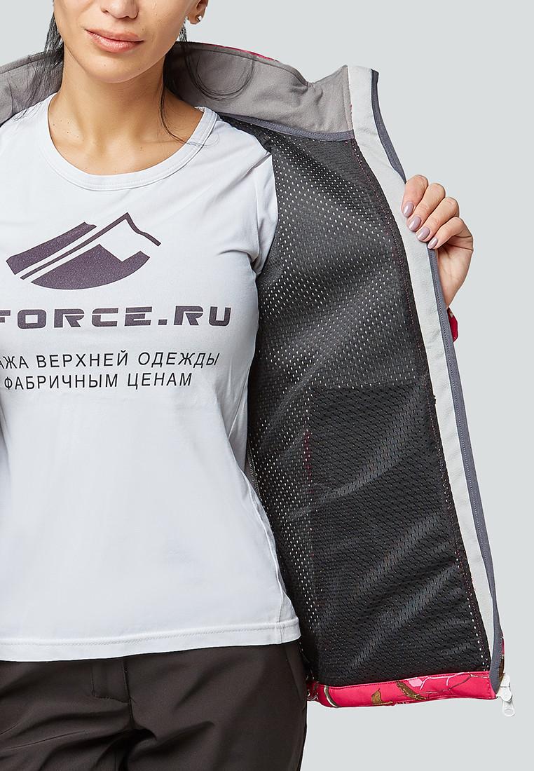 Купить оптом Костюм женский softshell белого цвета 01977Bl в Воронеже