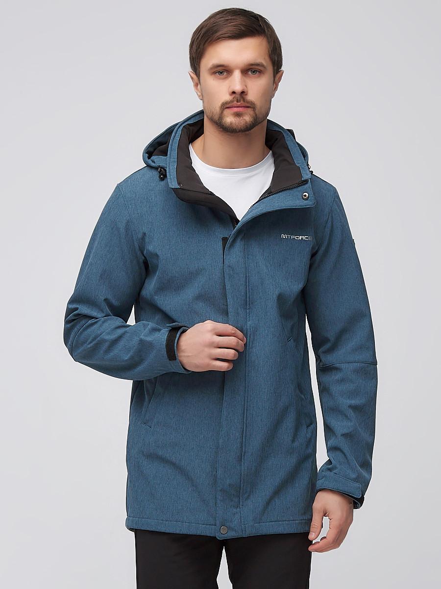 Купить оптом Спортивный костюм мужской softshell голубого цвета 02010Gl