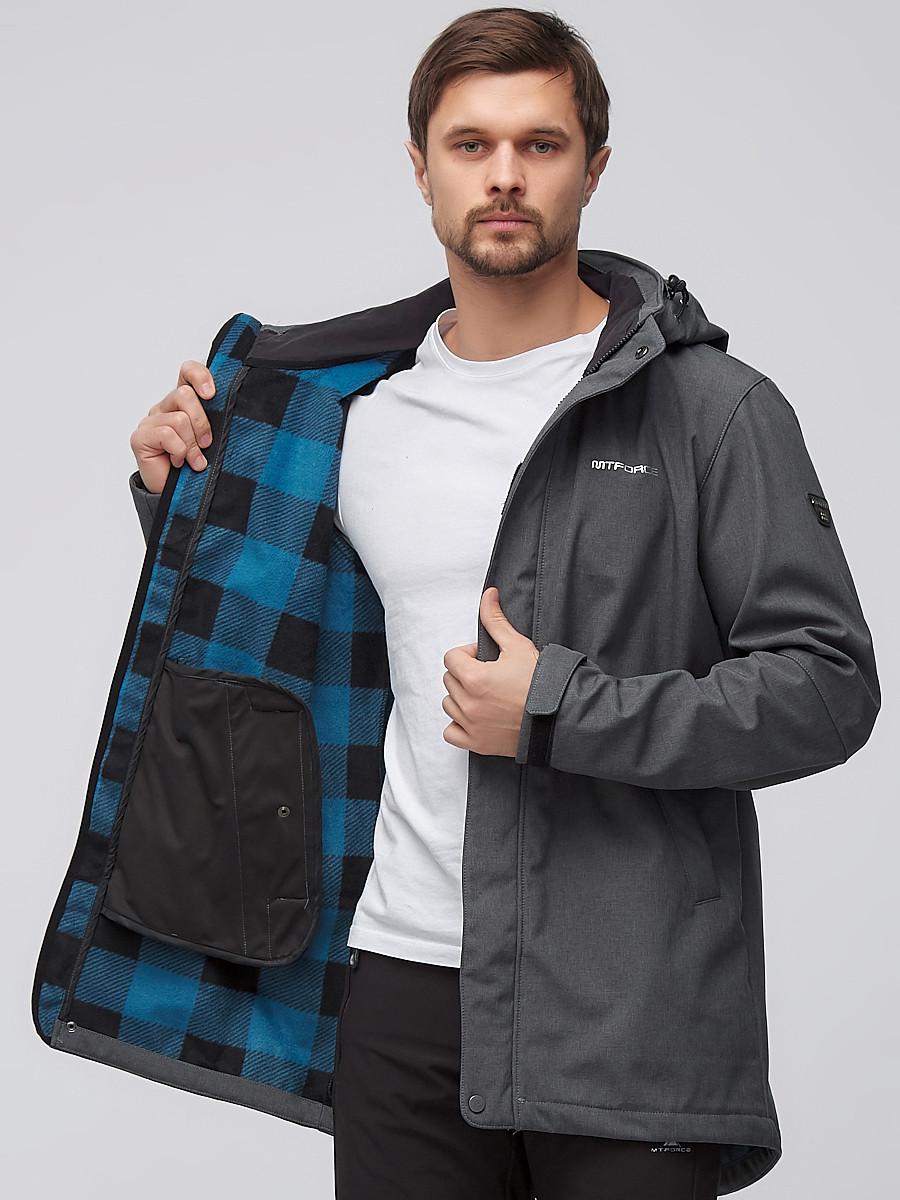 Купить оптом Спортивный костюм мужской softshell темно-серого цвета 02010TC