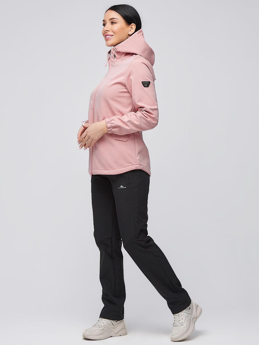 Купить оптом Костюм женский softshell персикового цвета 02014P в Санкт-Петербурге