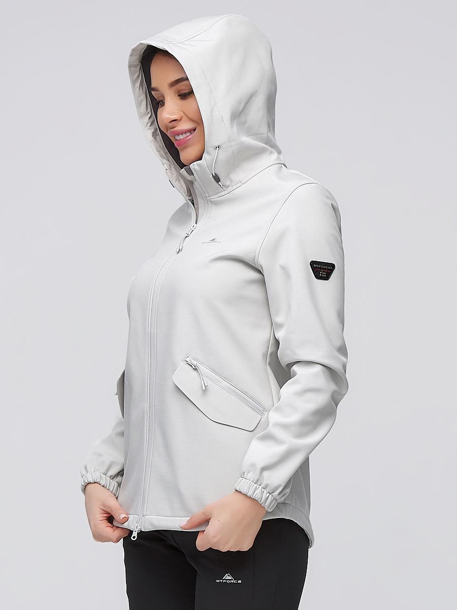 Купить оптом Костюм женский softshell светло-серого цвета 02014SS