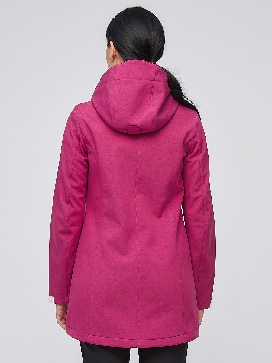 Купить оптом Костюм женский softshell малинового цвета 02021M