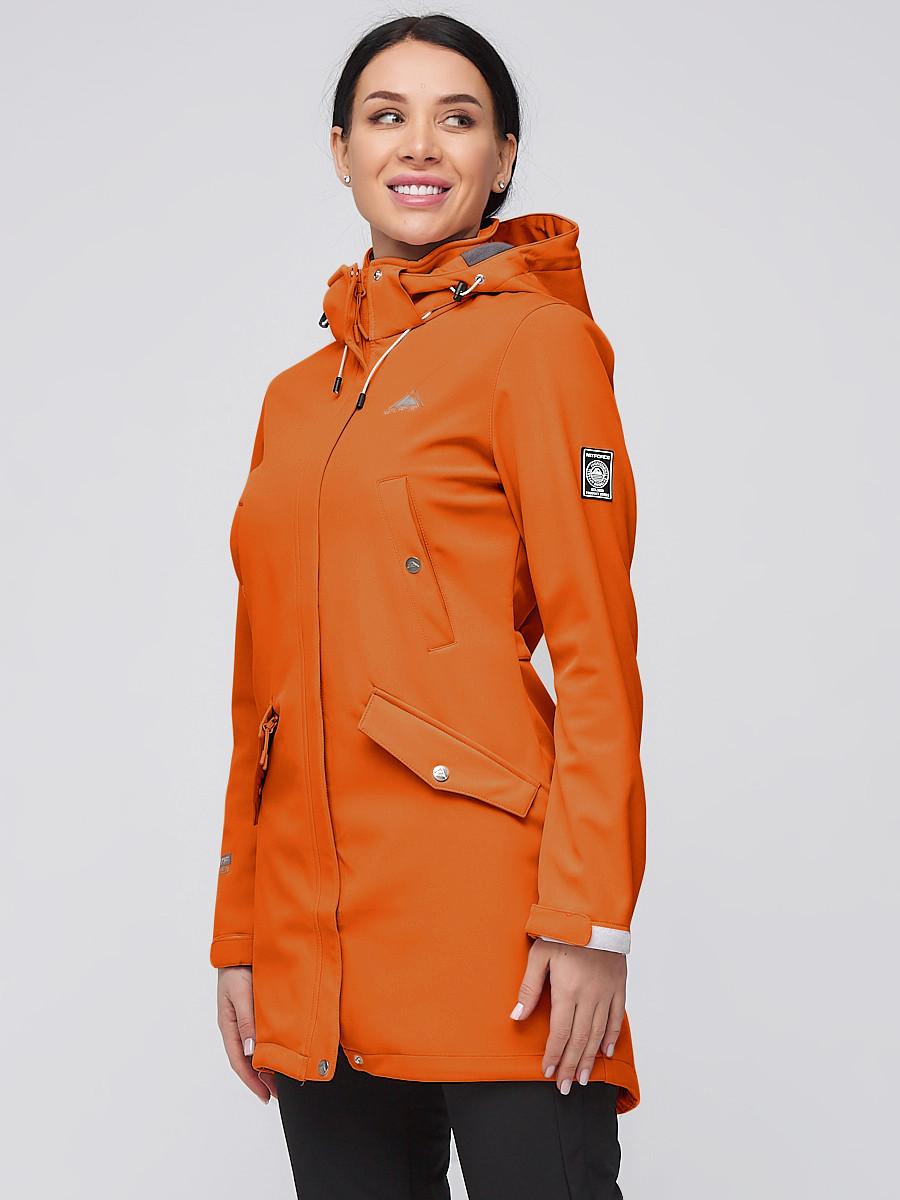 Купить оптом Костюм женский softshell оранжевого цвета 02026O