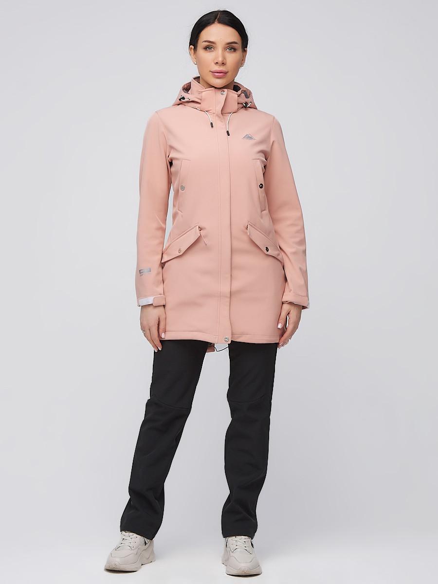 Купить оптом Костюм женский softshell персикового цвета 02026P
