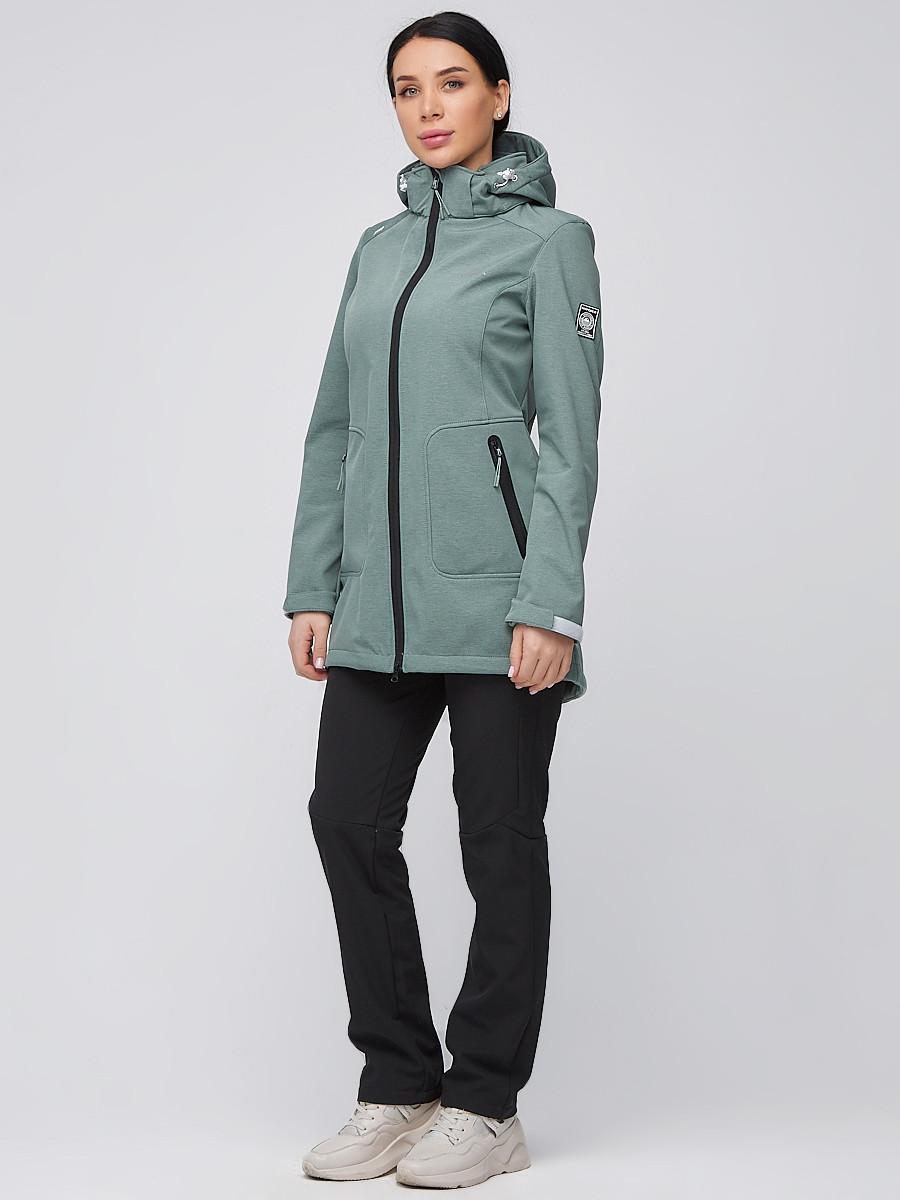 Купить оптом Костюм женский softshell зеленого цвета 02028Z