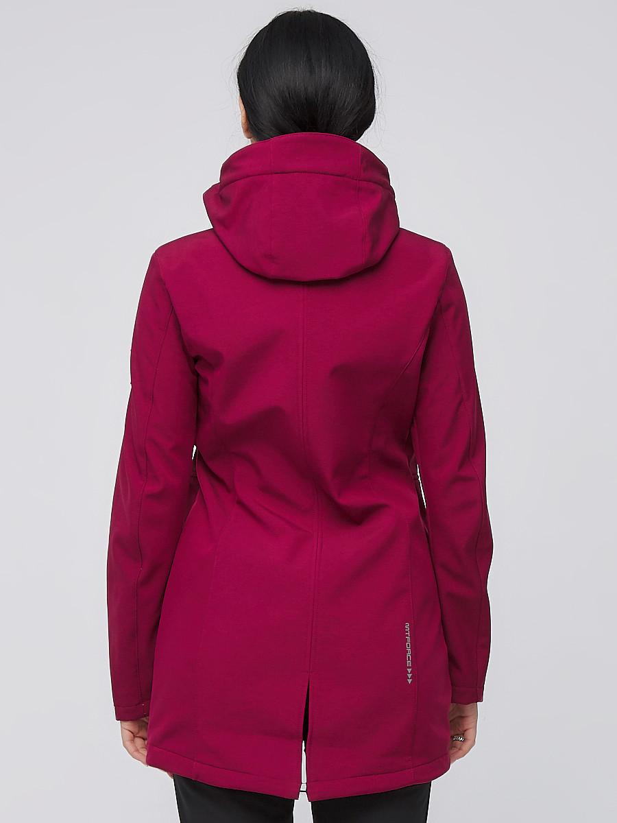 Купить оптом Костюм женский softshell бордового цвета 02028Bo