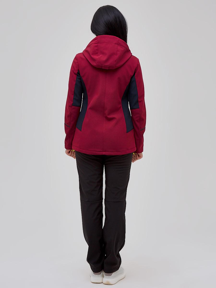 Купить оптом Костюм женский softshell бордового цвета 02036Bo