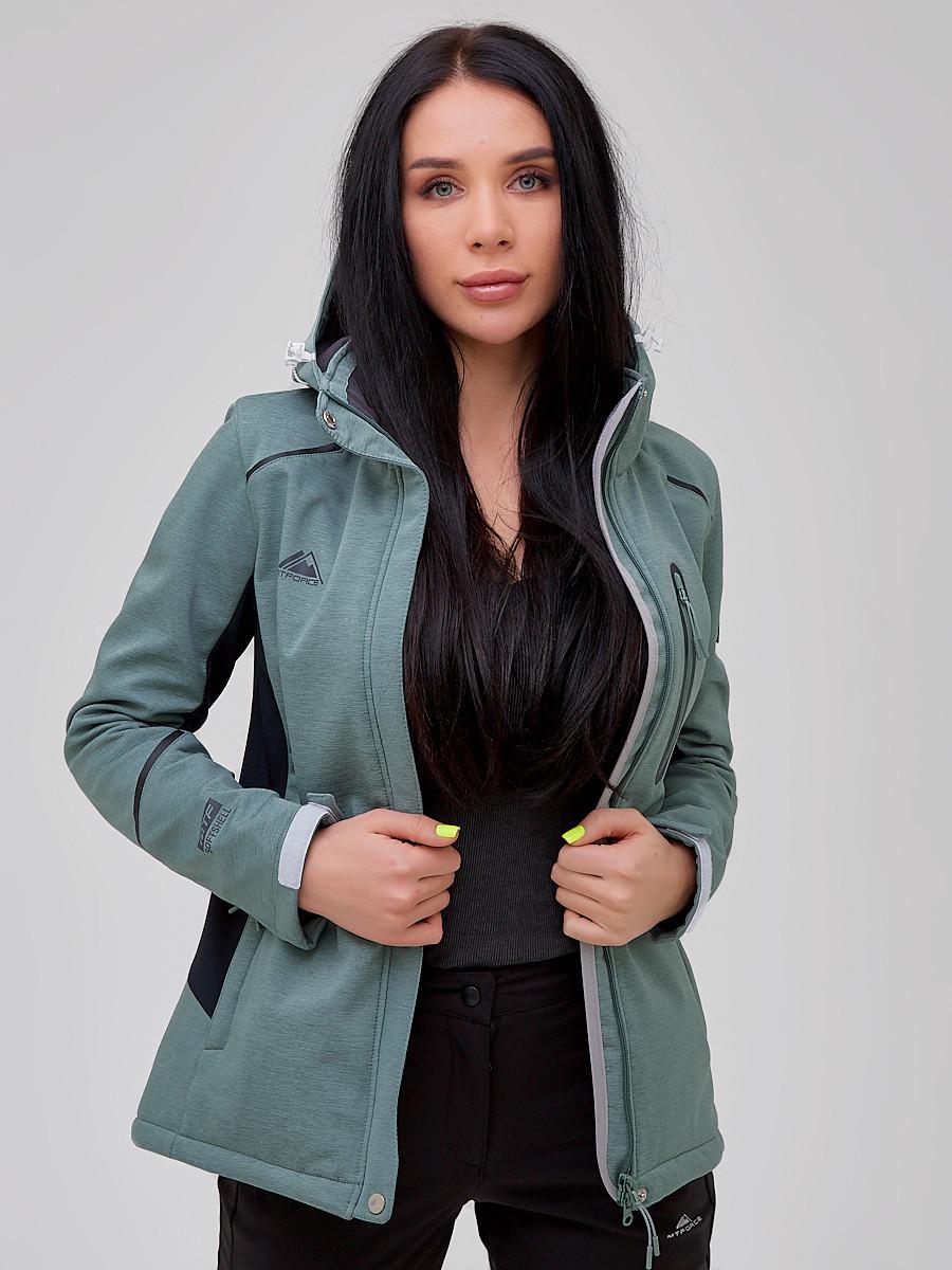 Купить оптом Костюм женский softshell бирюзового цвета 02036Br