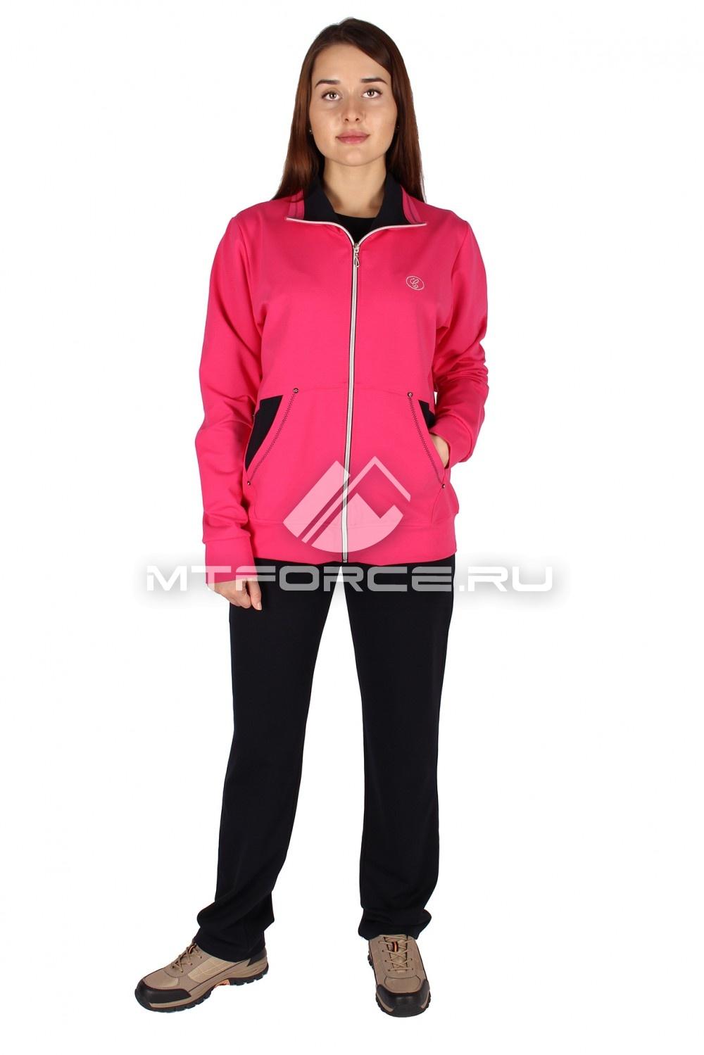 Купить                                  оптом Спортивный костюм женский большого размера розового цвета 0021R в Санкт-Петербурге