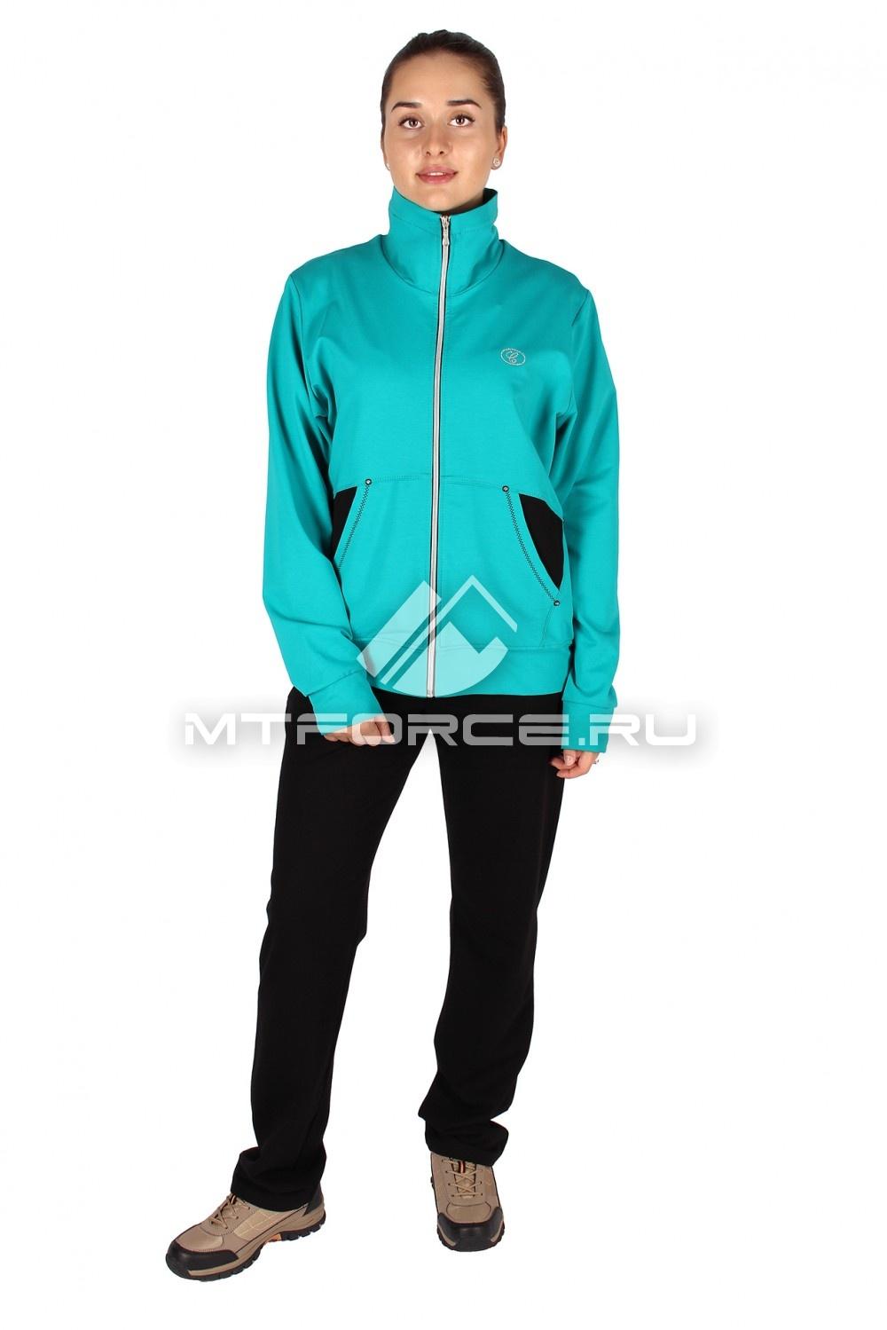 Купить                                  оптом Спортивный костюм женский большого размера бирюзового цвета 0021Br в Новосибирске