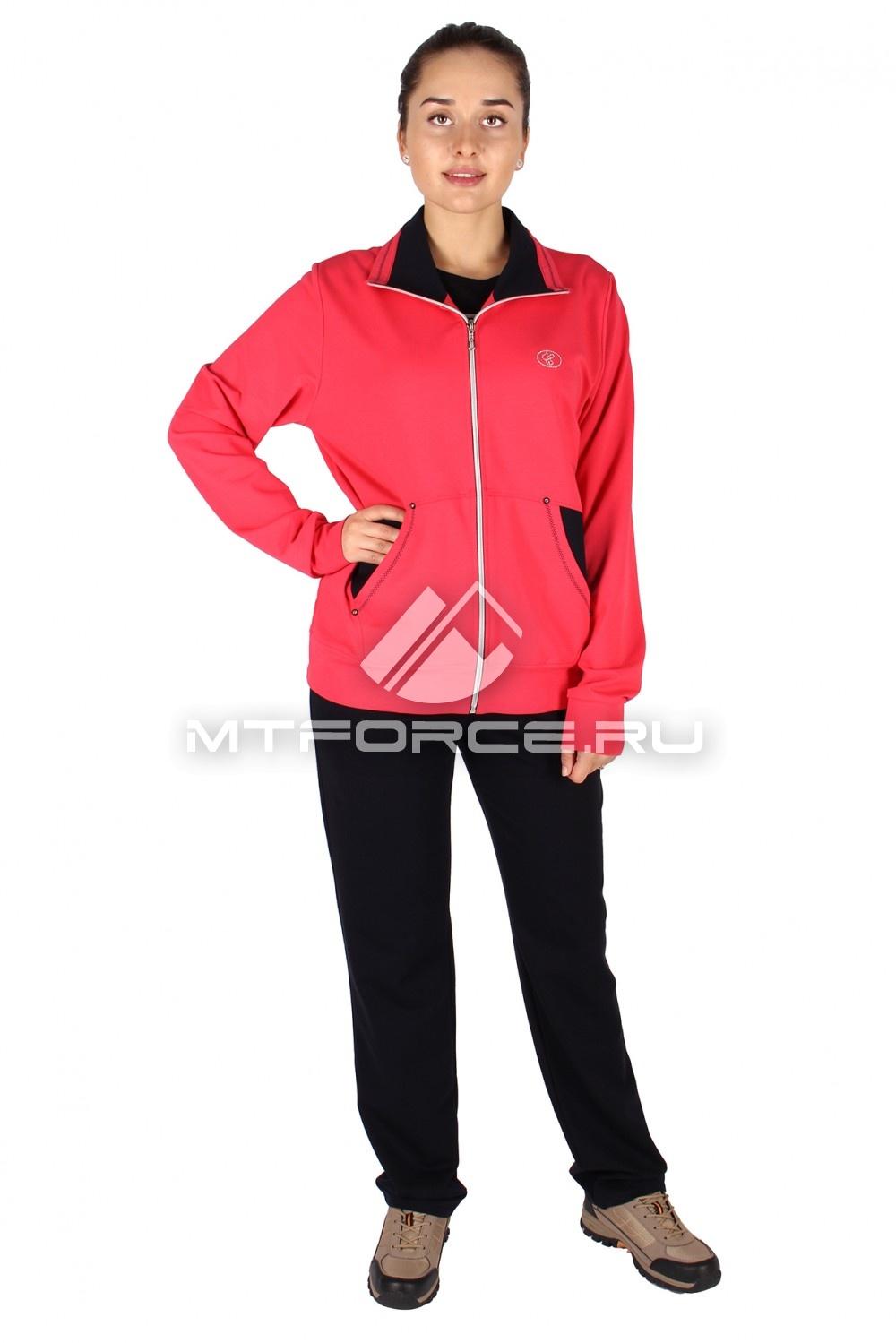 Купить                                  оптом Спортивный костюм женский большого размера персикового цвета 0021P