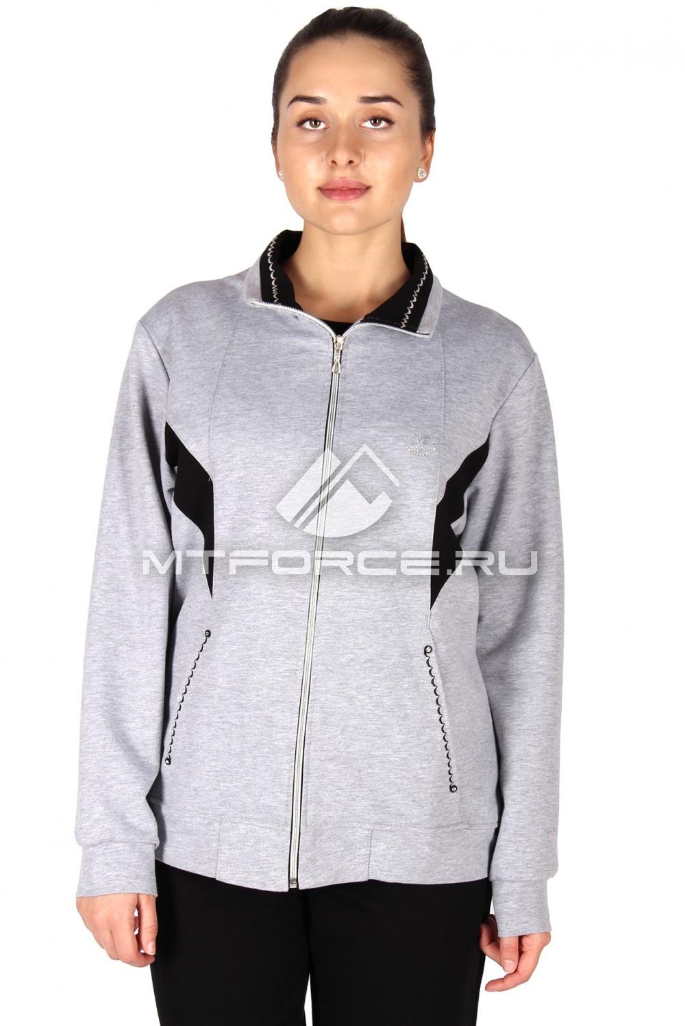 Купить                                  оптом Олимпийка женская большого размера серого цвета 022Sr