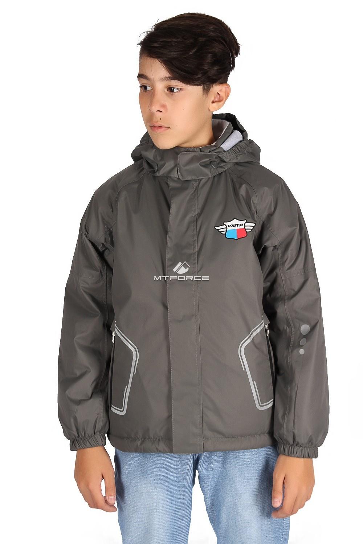 Купить                                      оптом Куртка демисезонная для мальчика темно-серого цвета 029-2TC