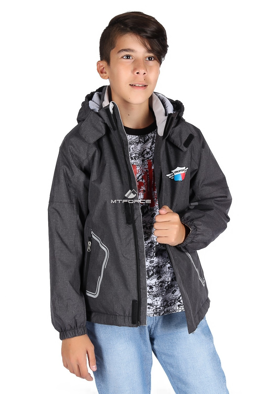Купить                                      оптом Куртка демисезонная для мальчика темно-серого цвета 029-1TC