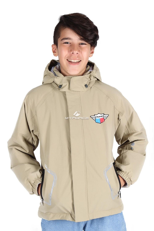 Купить оптом Куртка демисезонная для мальчика бежевого цвета 029-2B