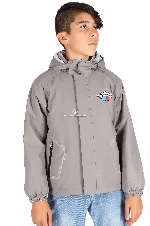 Купить оптом Куртка демисезонная для мальчика светло-серого цвета 029-2SS