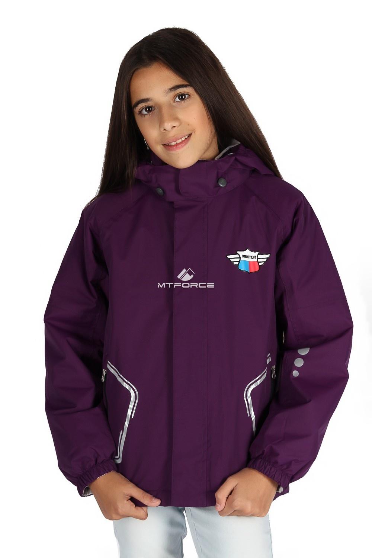 Купить                                      оптом Куртка демисезонная для девочки фиолетового цвета 029-3F