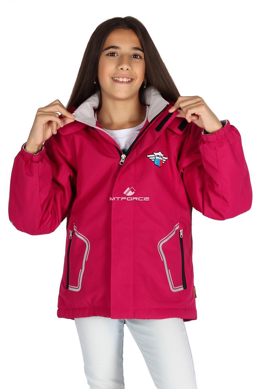 Купить                                      оптом Куртка демисезонная для девочки малинового цвета 029-3М