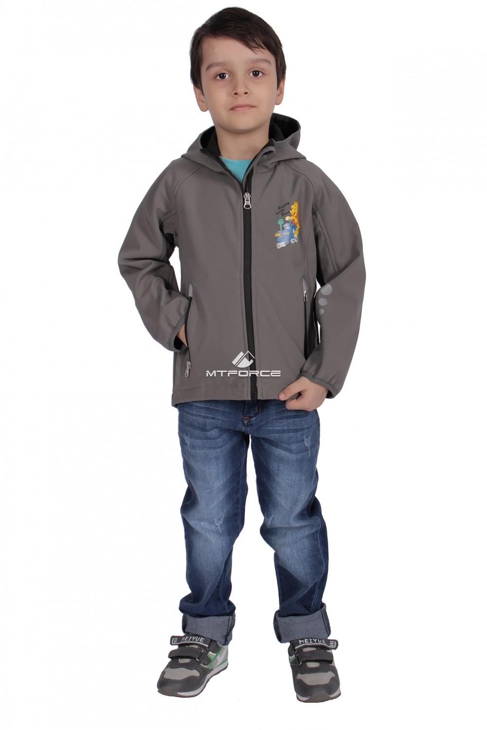 Купить оптом Куртка ветровка детская серого цвета 034-1Sr в Санкт-Петербурге
