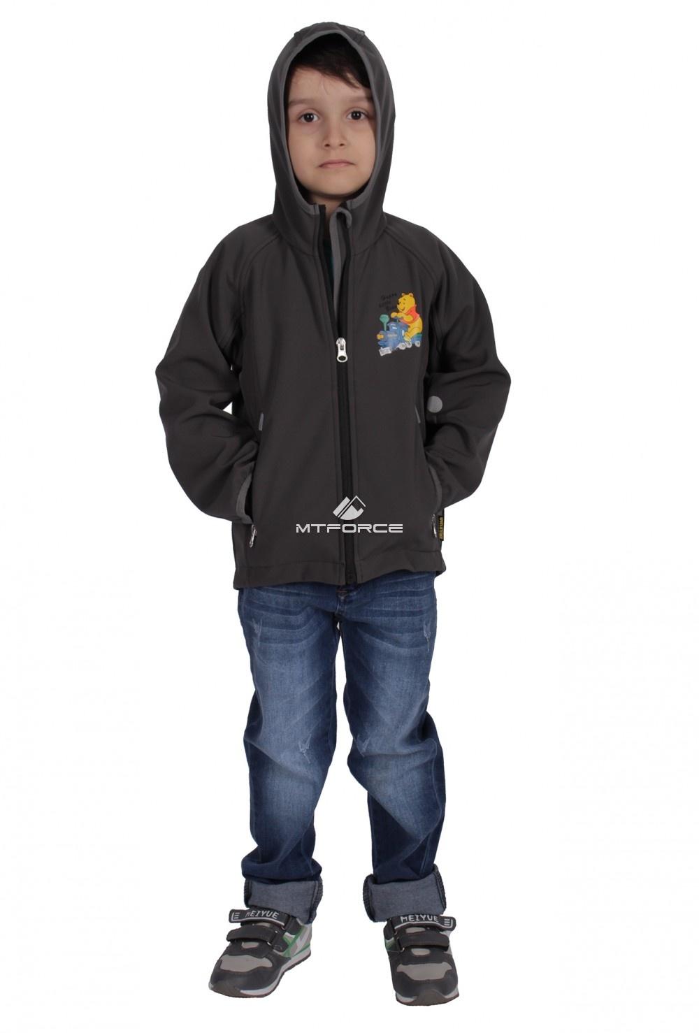 Купить оптом Куртка ветровка детская темно--серого цвета 034-1TC