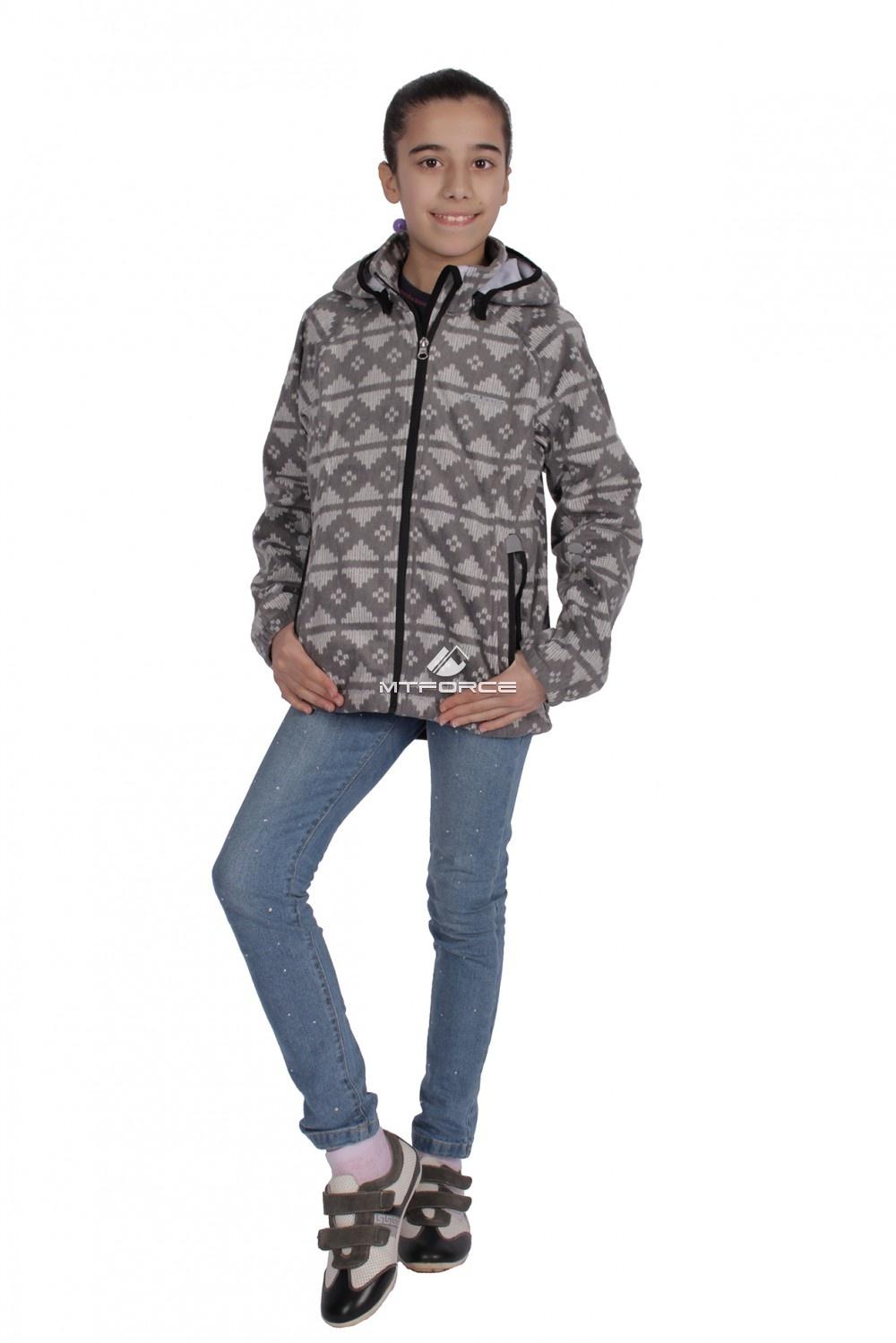 Купить  оптом Куртка ветровка подростковая для девочки серого цвета 034-3Sr