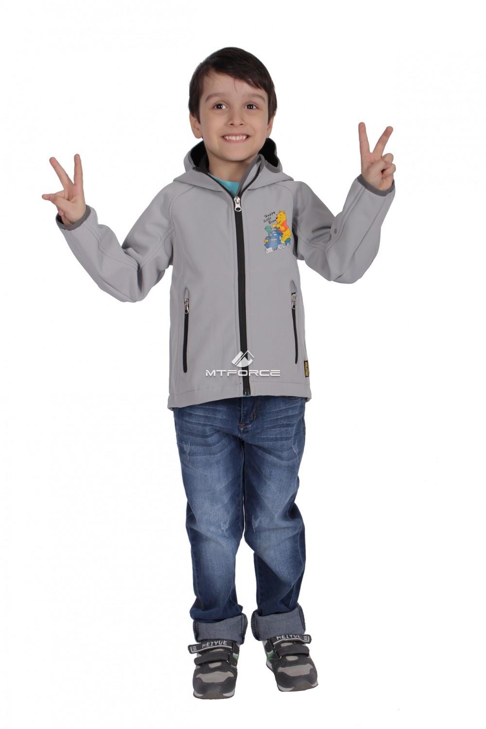 Купить                                  оптом Куртка ветровка детская светло-серого цвета 034-1Ss в Санкт-Петербурге