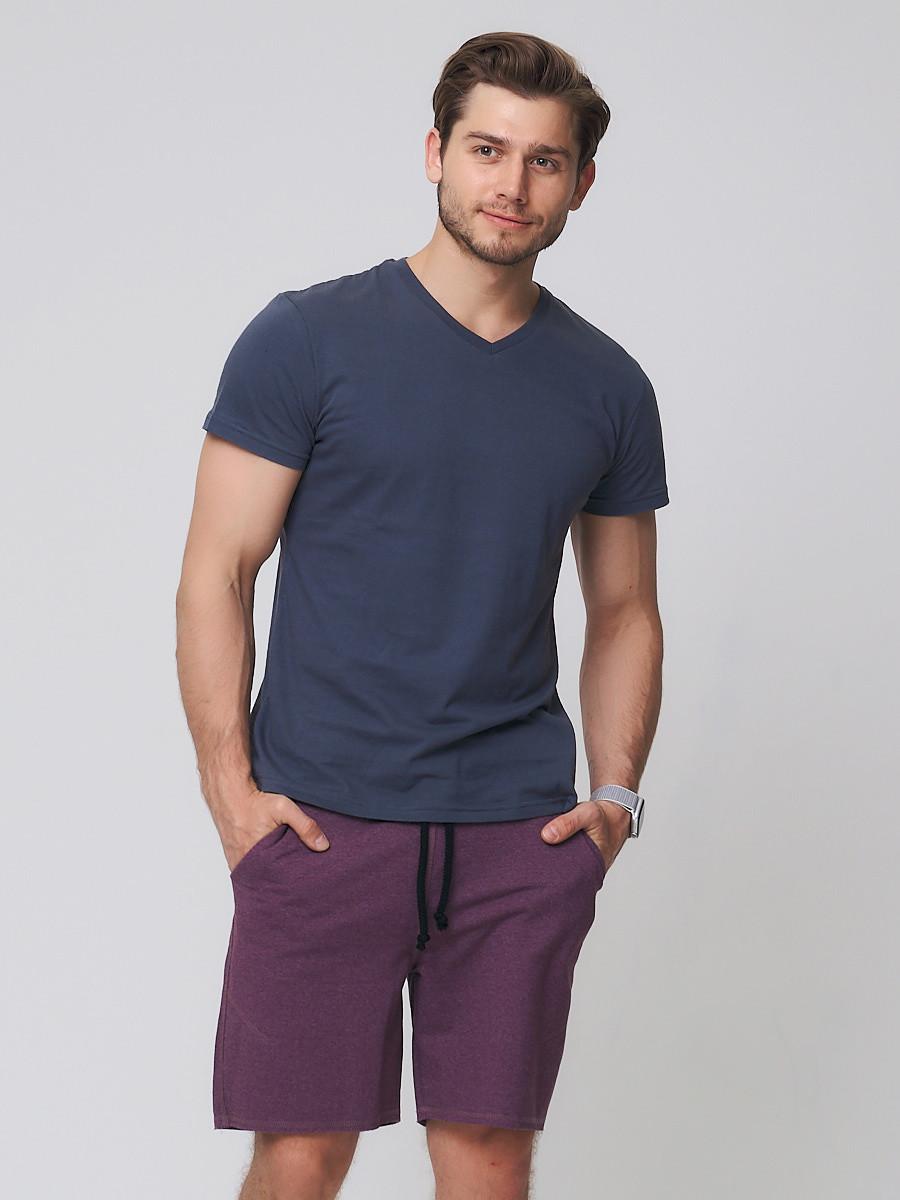 Купить оптом Летние шорты трикотажные мужские коричневого цвета 050620K