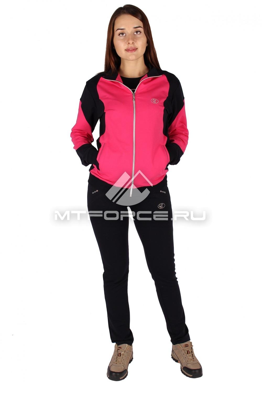 Купить                                  оптом Спортивный трикотажный костюм женский розового цвета 0050R