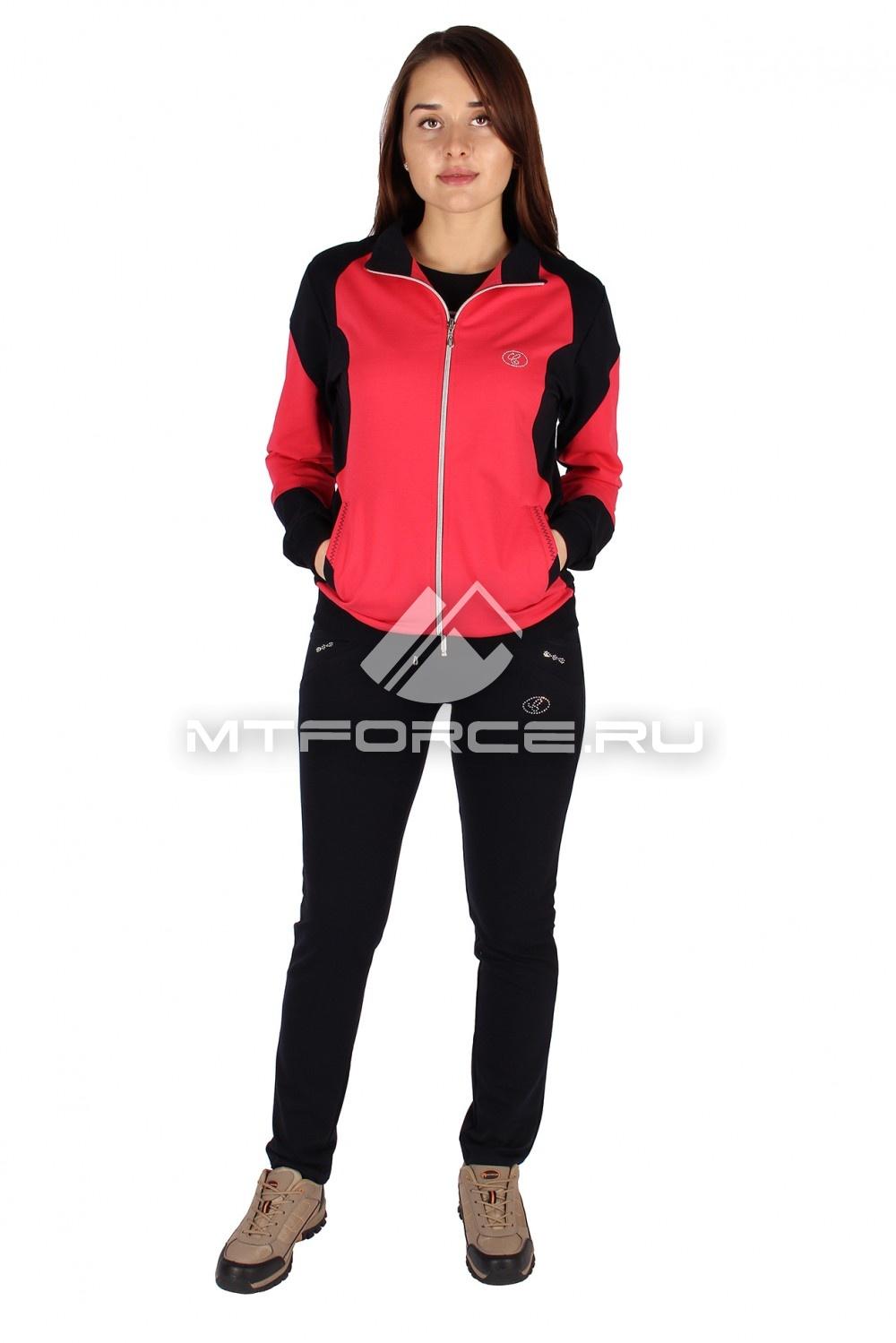 Купить                                  оптом Спортивный трикотажный костюм женский персикового цвета 0050P