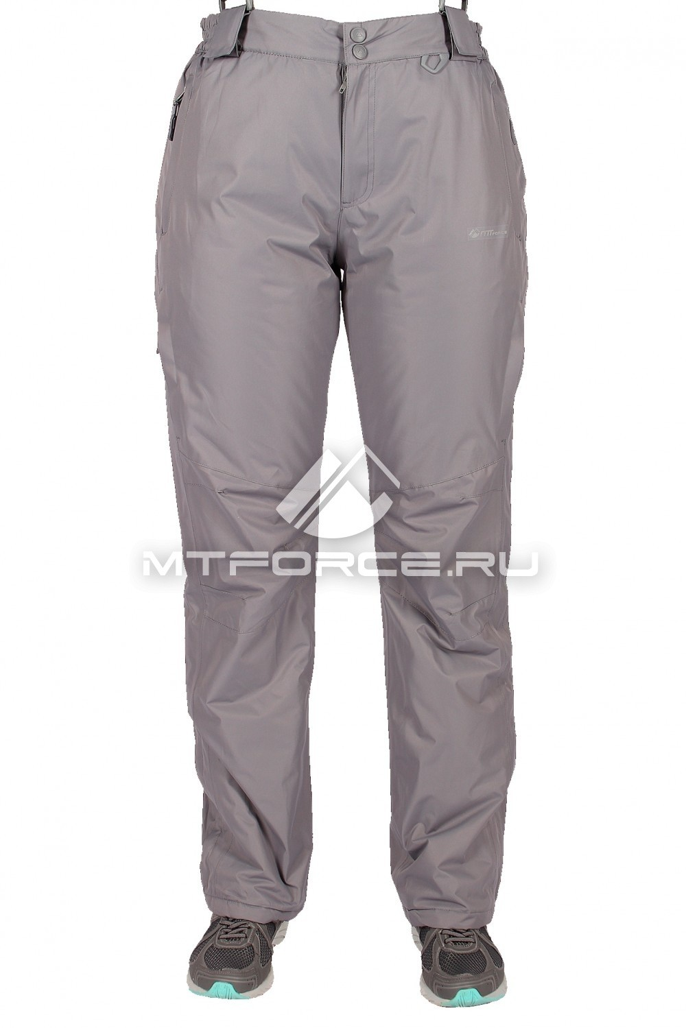 Купить оптом Брюки горнолыжные женские серого цвета 526Sr в  Красноярске
