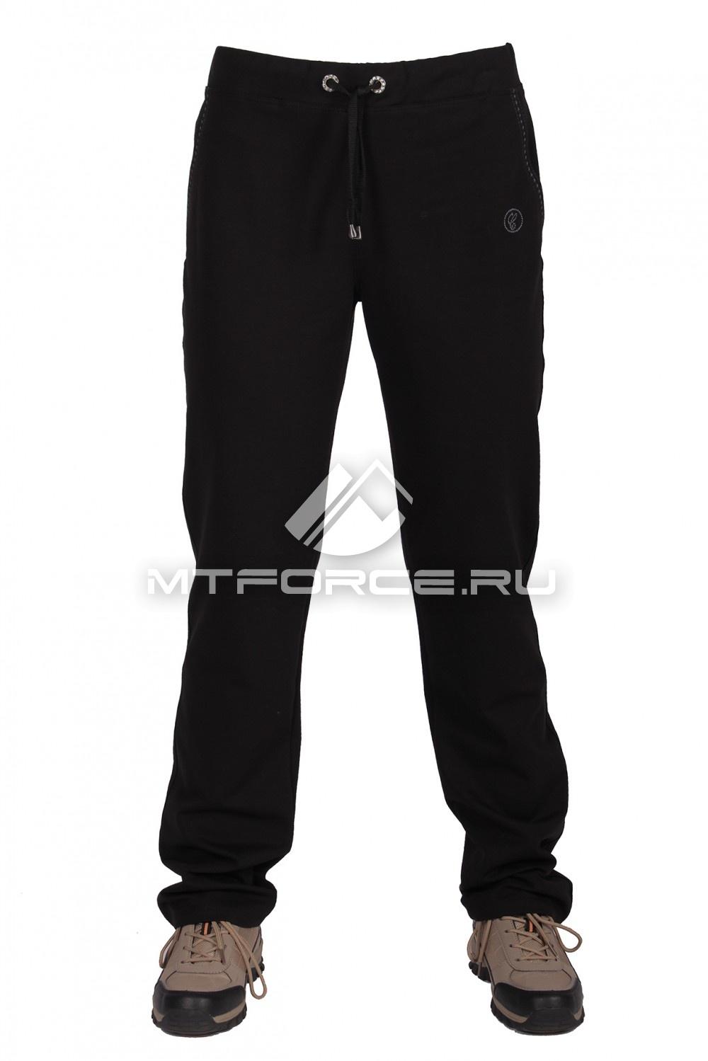 Купить                                  оптом Брюки трикотажные женские большого размера черного цвета 055Ch в Санкт-Петербурге