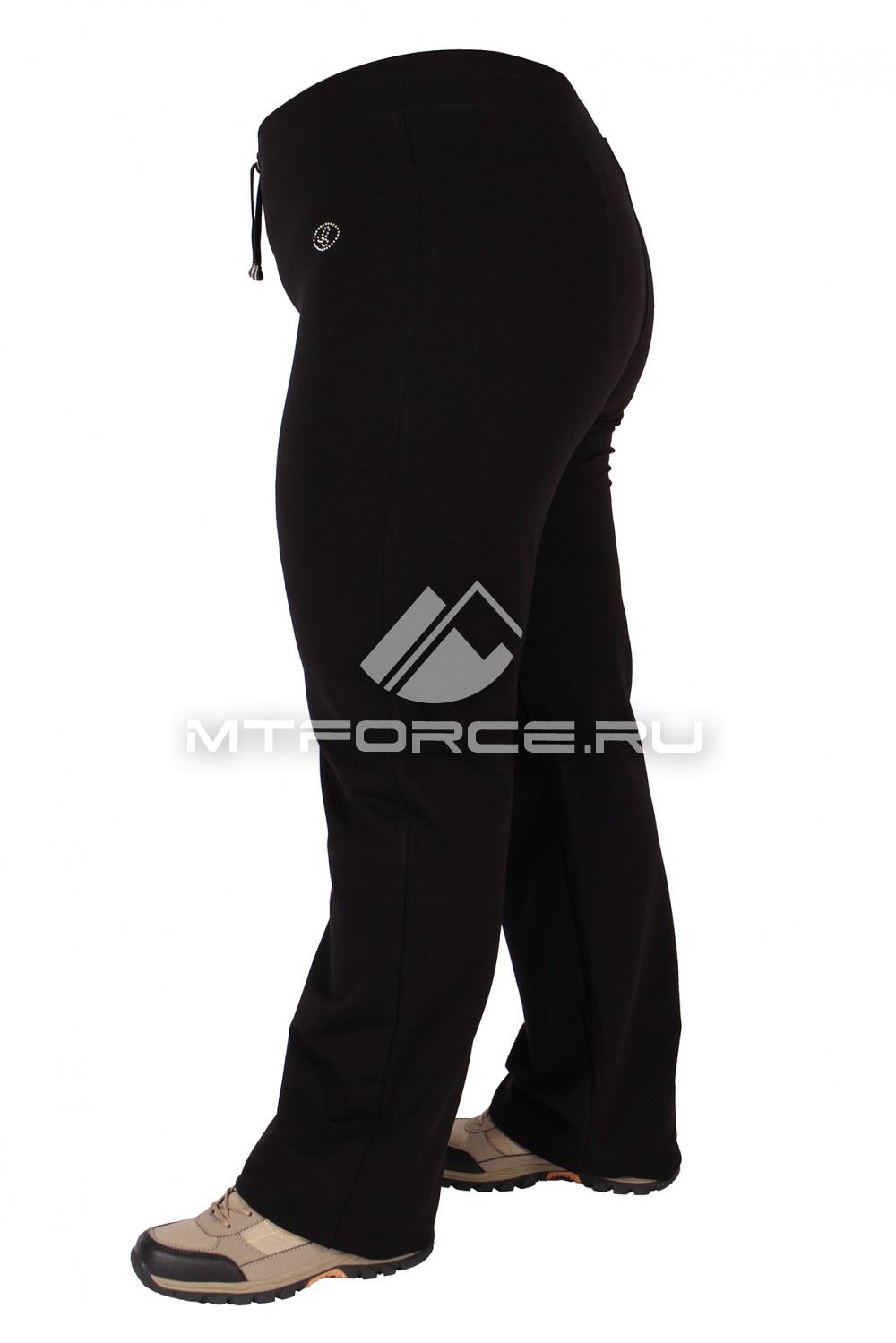 Купить                                  оптом Брюки трикотажные женские большого размера черного цвета 05Ch в Санкт-Петербурге