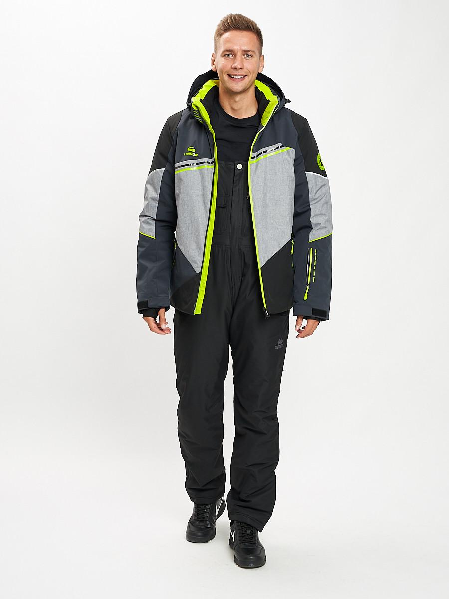Купить оптом Горнолыжный костюм мужской темно-серого цвета 077016TC в Екатеринбурге