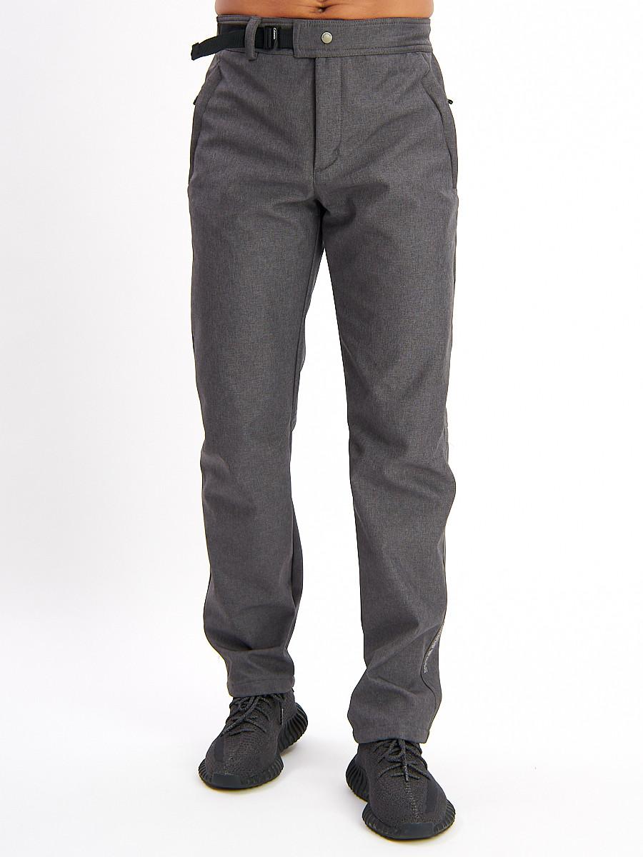 Купить оптом Брюки мужские серого цвета 077Sr в Екатеринбурге