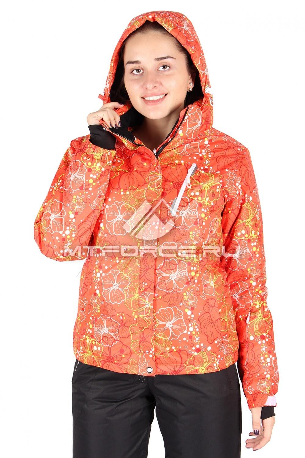 Купить оптом Куртка горнолыжная женская оранжевого цвета 78O
