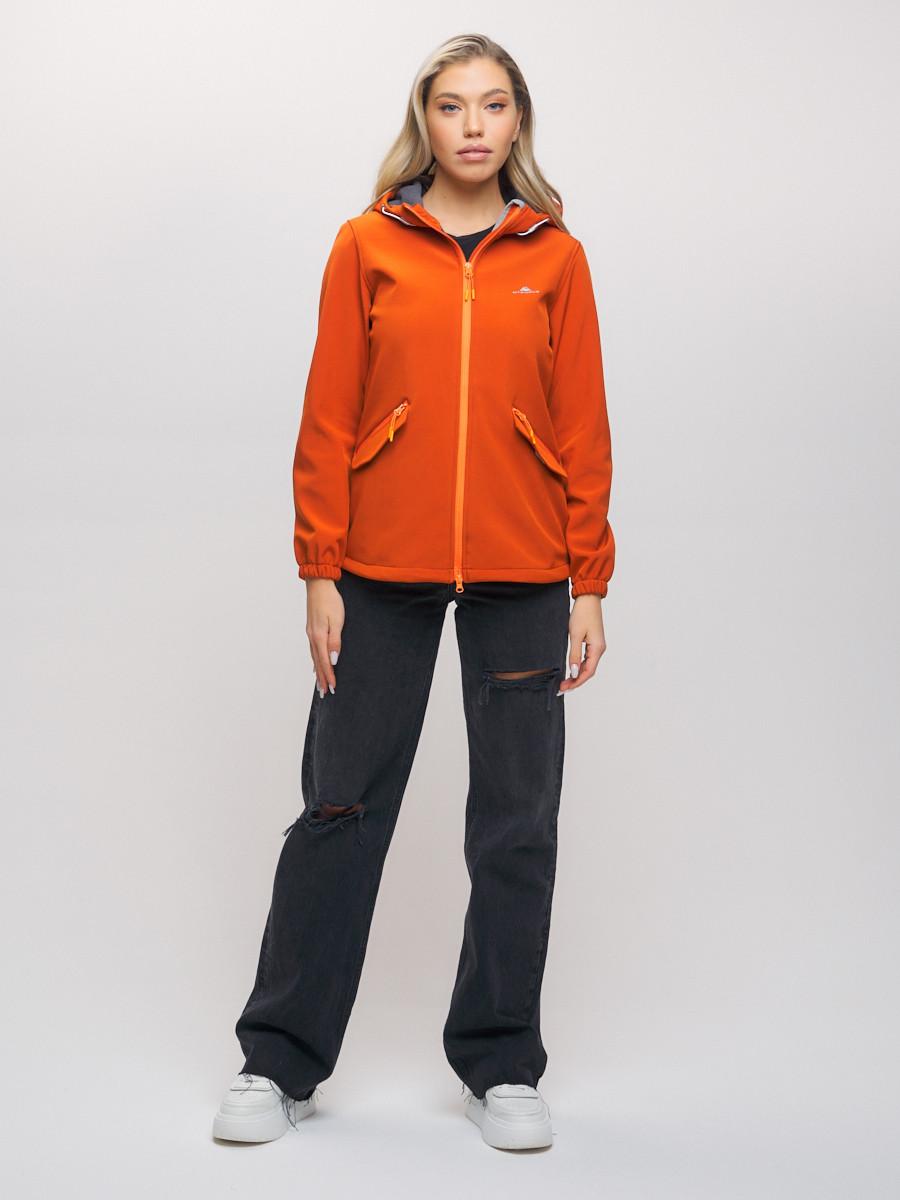 Купить оптом Ветровка MTFORCE женская оранжевого цвета 20014O