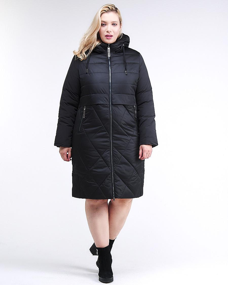 Купить оптом Куртка зимняя женская классическая черного цвета 100-916_701Ch в Екатеринбурге
