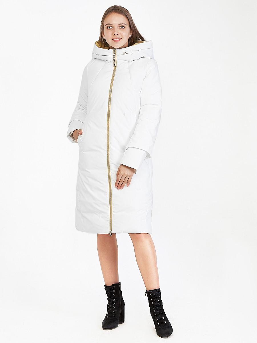 Купить оптом Куртка зимняя женская белого цвета 100-927_31Bl в Казани