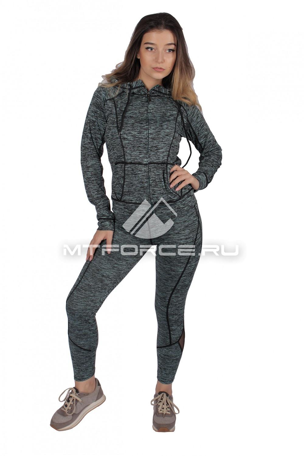 Купить                                  оптом Костюм спортивный женский темно-зеленого цвета 01020TZ в Санкт-Петербурге