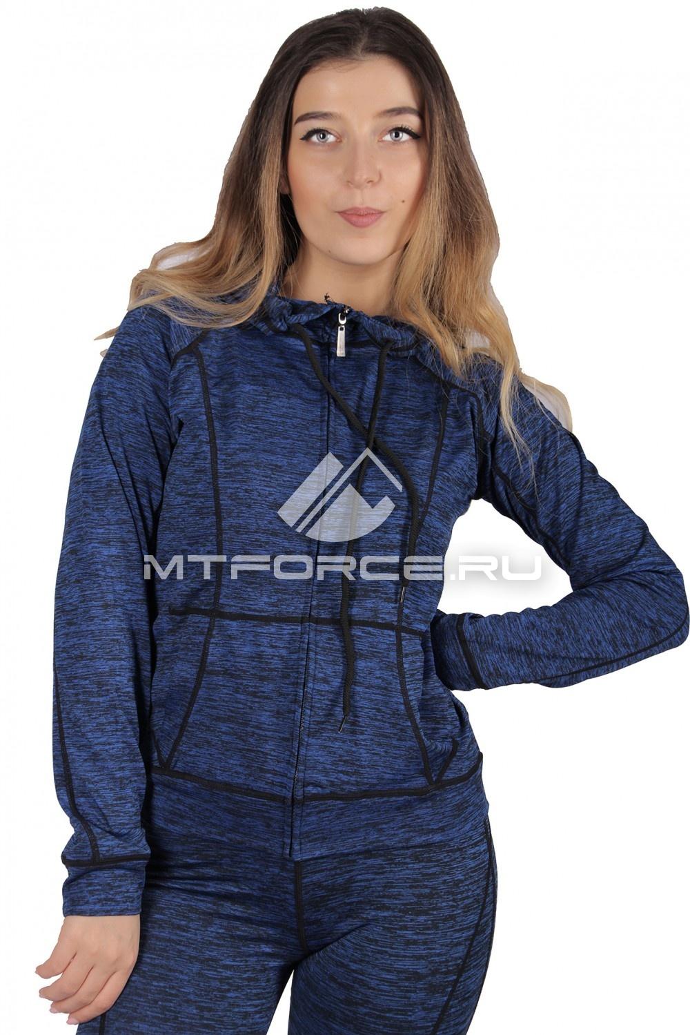Купить  оптом Толстовка женская спортивная темно-синего цвета 1020TS